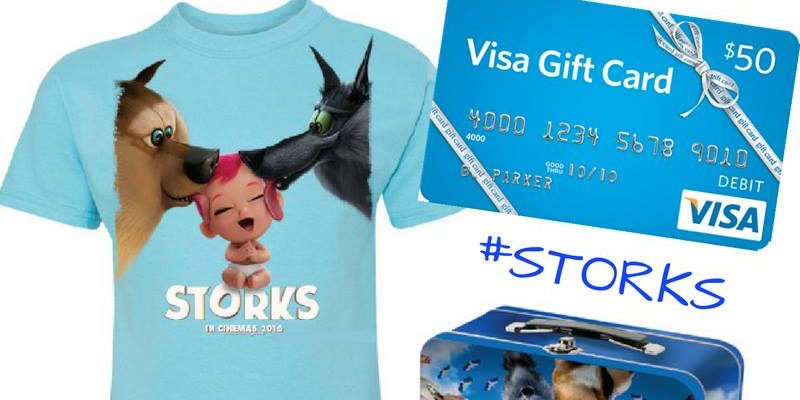 STORKS Prize Pack With Visa Gift Card, T-Shirt And Lunchbox