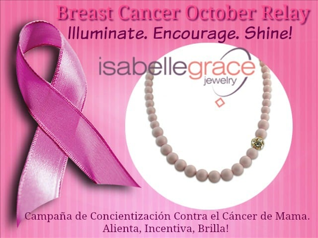 Breast Cancer Awareness Relay, Isabelle Grace Jewelry