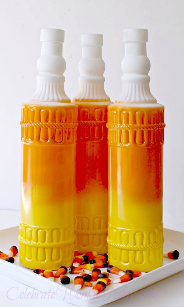 Candy Corn Wine Bottles Craft
