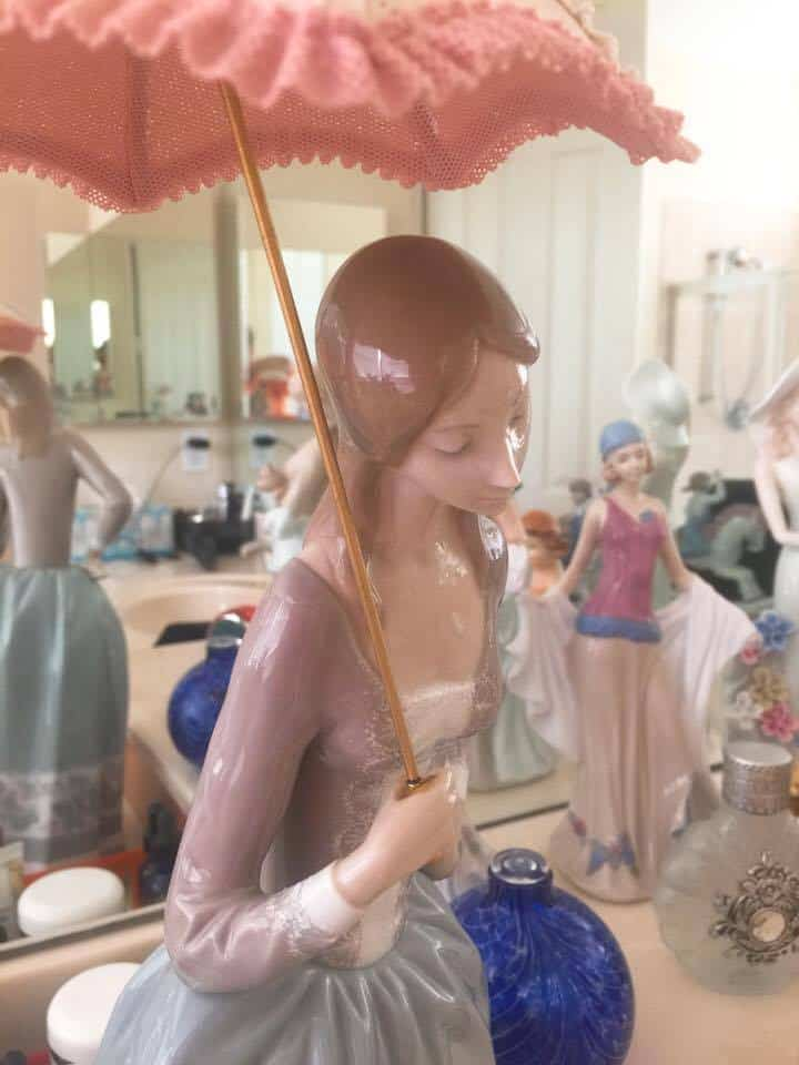 LLADRO GIRL WITH PARASOLE, Breast Cancer Awareness Relay