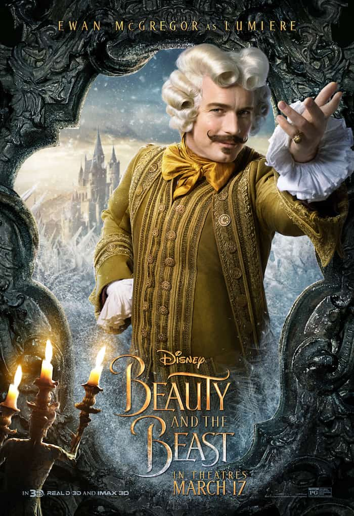 Beauty And The Beast, Disney Movie, Ewan McGregor as Lumiere