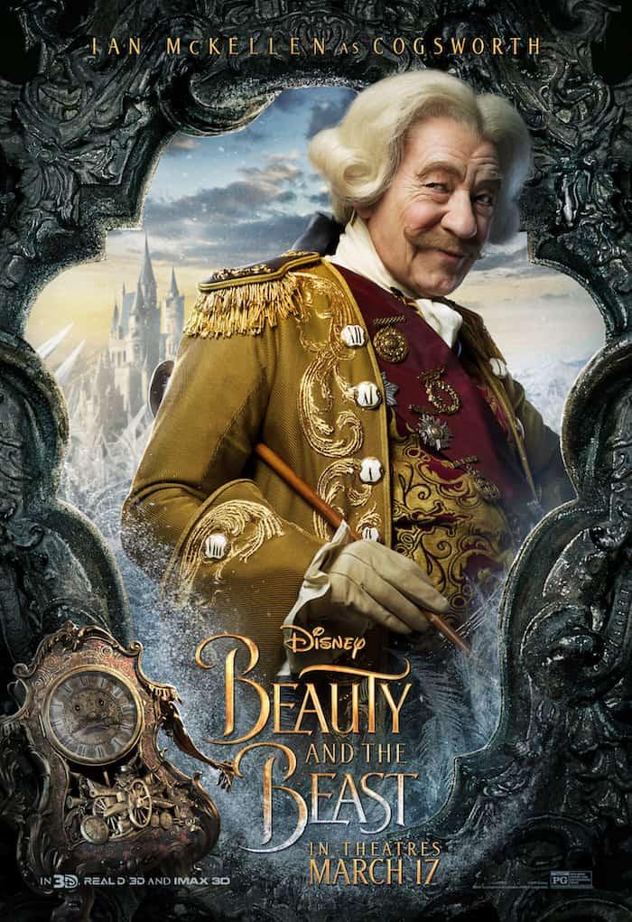 Beauty And The Beast, Disney Movie, Ian McKellen, Cogsworth