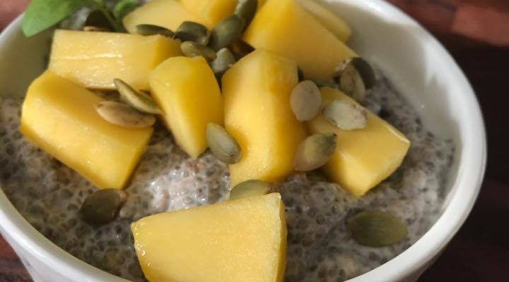 How To Have A Fulfilling Breakfast – Have A Chia Mango Coconut Pudding!