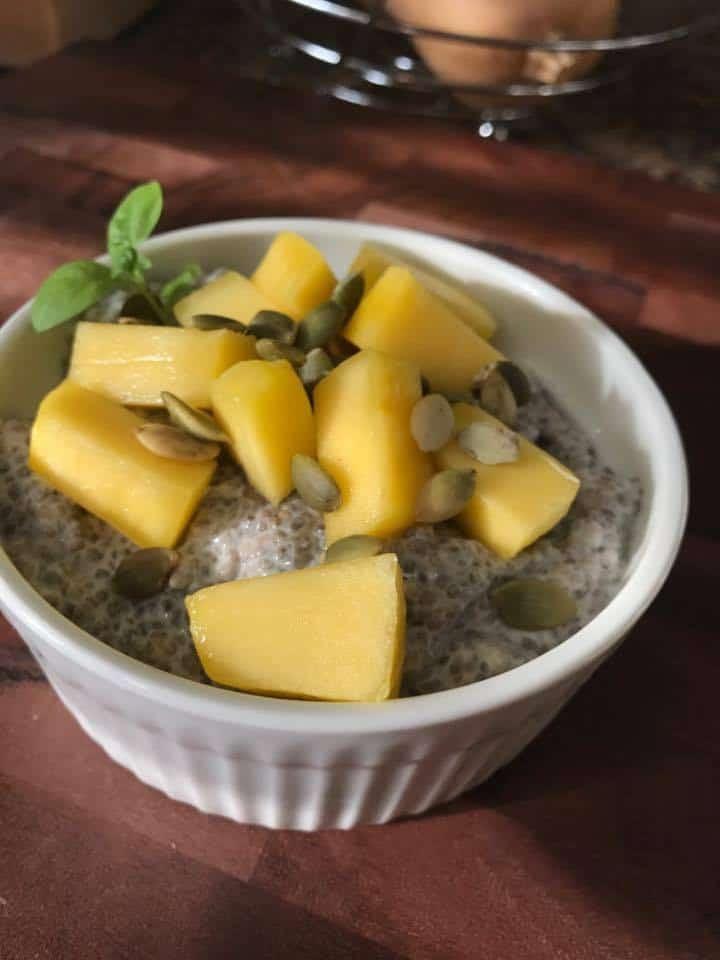 Chia Mango Coconut Pudding