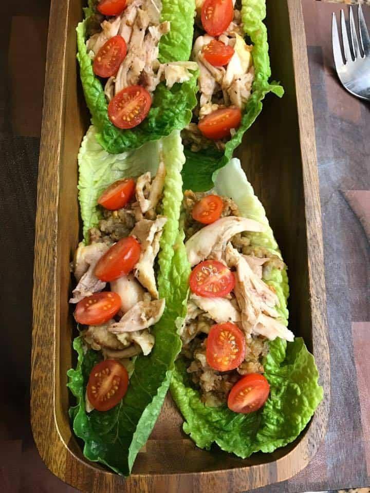 Chicken Lettuce Boat Dinner