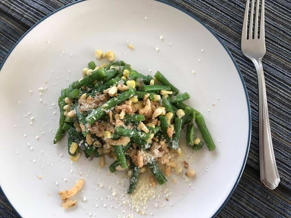 Green Bean Salad with Corn and Pine Nuts