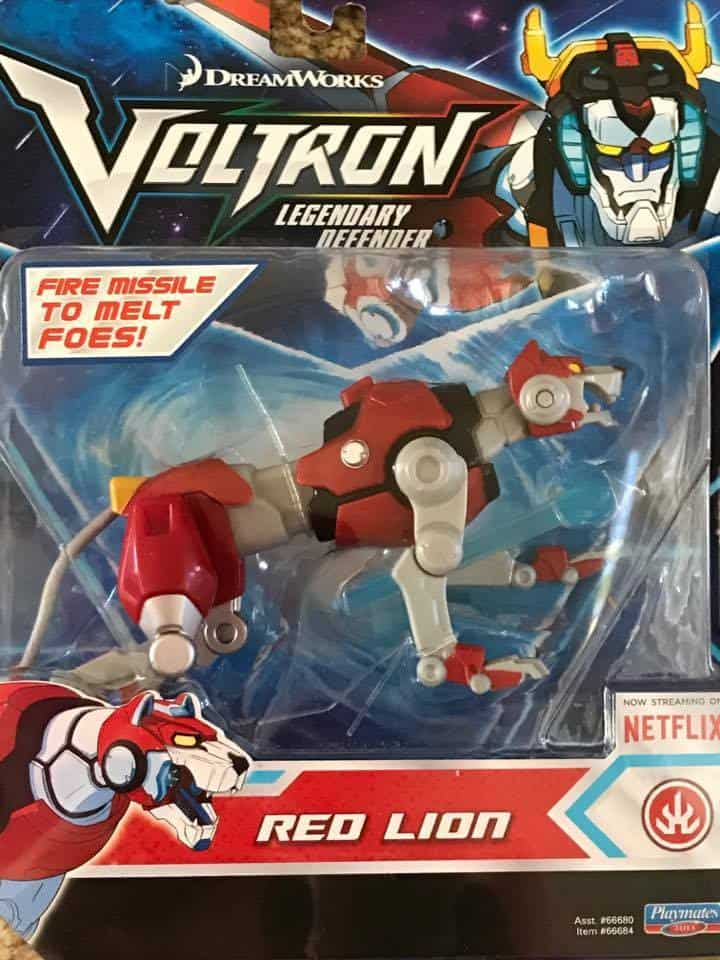 Voltron Legendary Defender Red Lion toy