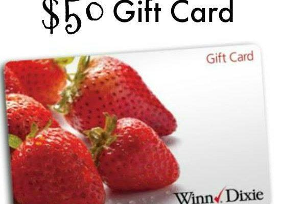 $50 Winn Dixie Gift Card Giveaway