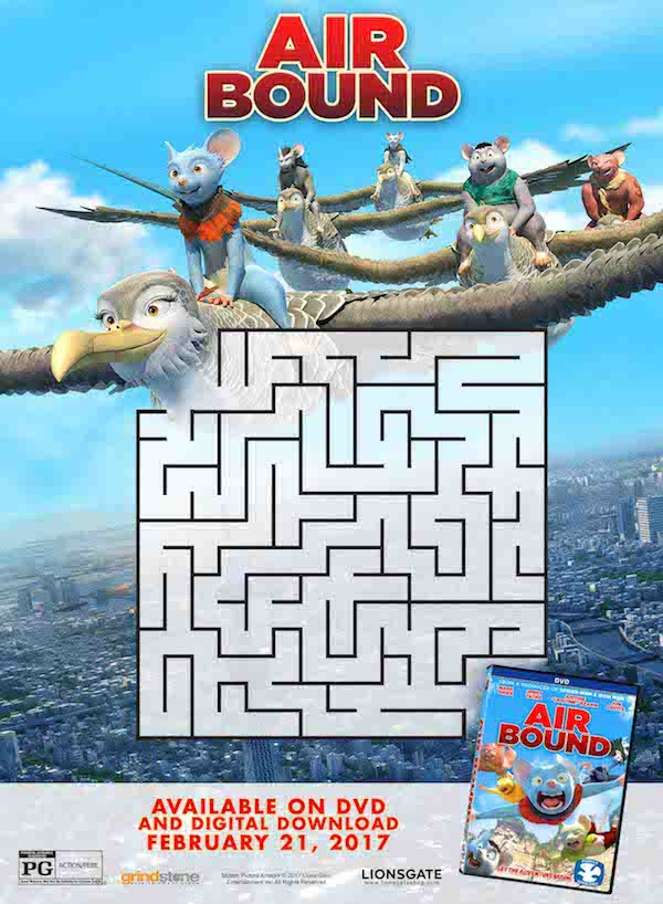Free Printables, AIR BOUND from LIONSGATE Entertainment