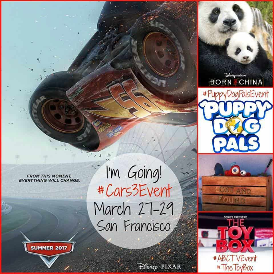Cars 3, The Toy Box, Puppy Dogs Pal Pixar Event
