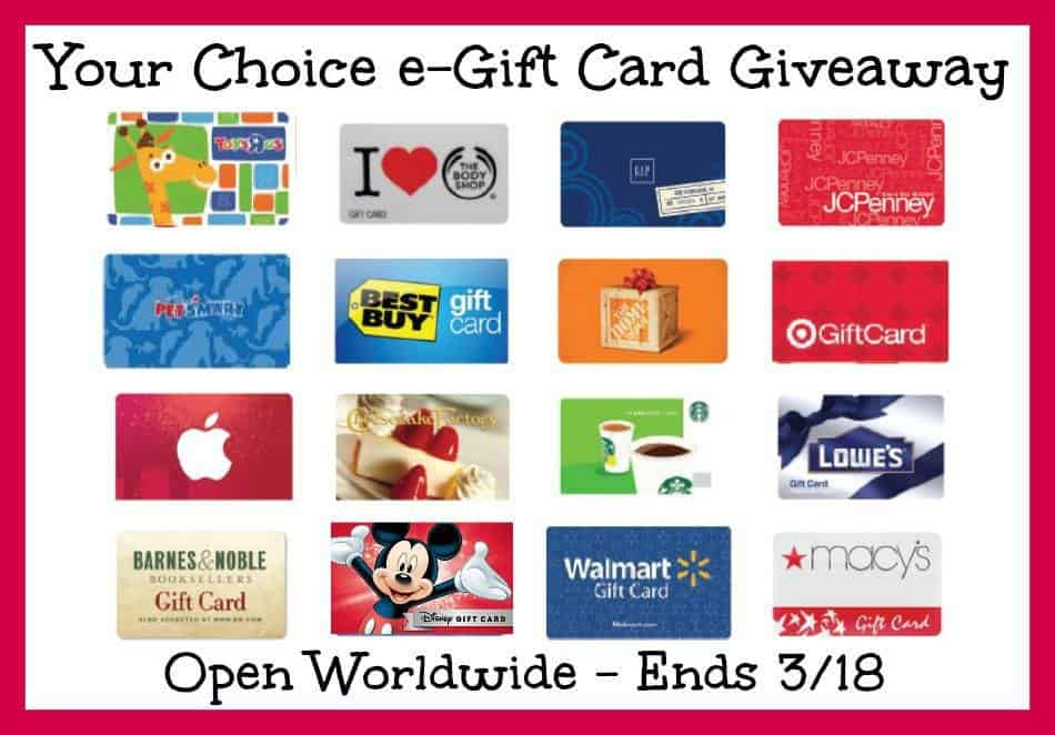 gift card giveaway
