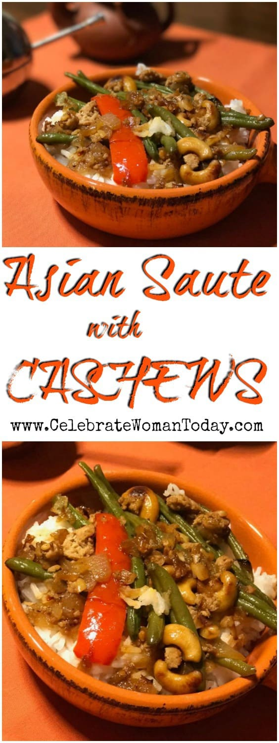 Asian Turkey And Green Beans Saute With Cashews Recipe