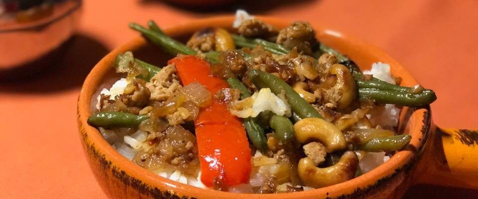 Asian Turkey And Green Beans Saute With Cashews