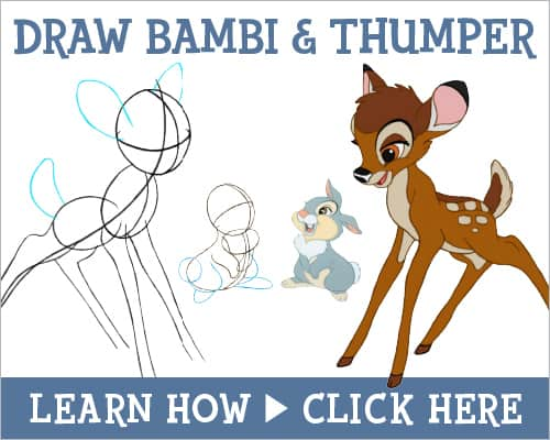 HOW-TO Draw Bambi and Thumper