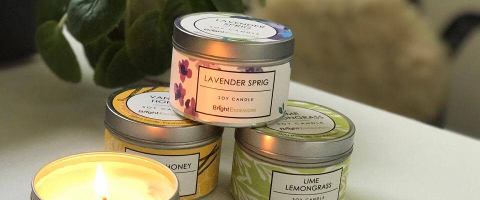 Bright Endeavors Soy Candles Celebration Giveaway