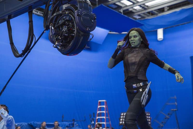 Guardians of the Galaxy Vol 2, greenscreen