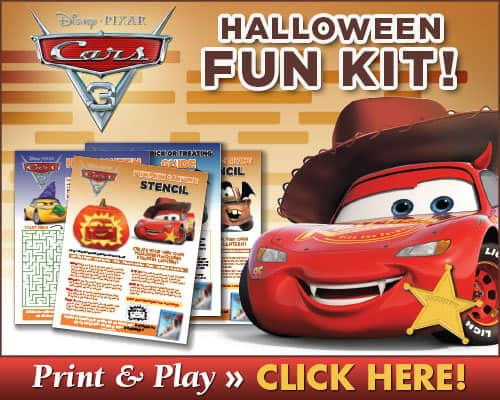 CARS 3 Printables, Halloween Printables