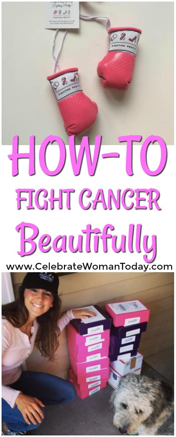Fighting Pretty Boxing Gloves, Breast Cancer Awareness, Kara Skaflestad