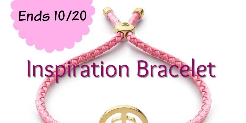 Breast Cancer Awareness Pink Inspiration Bracelet