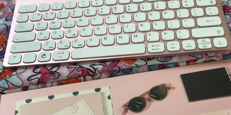 Win Penclic Wireless Keyboard In Pretty Pink!