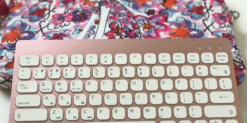 Power Your Workday With Penclic Keyboard KB3 In Pretty Pink