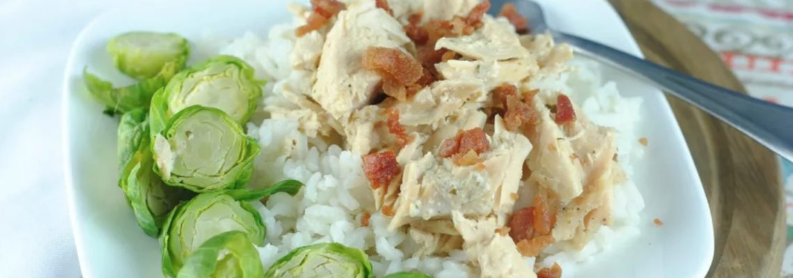 Slow Cooker Ranch Chicken with Bacon #EasyDinners
