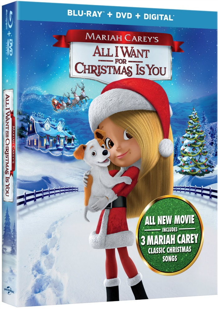 Mariah Carey All I Want for Christmas Is You, blu-ray DVD, Unicersal