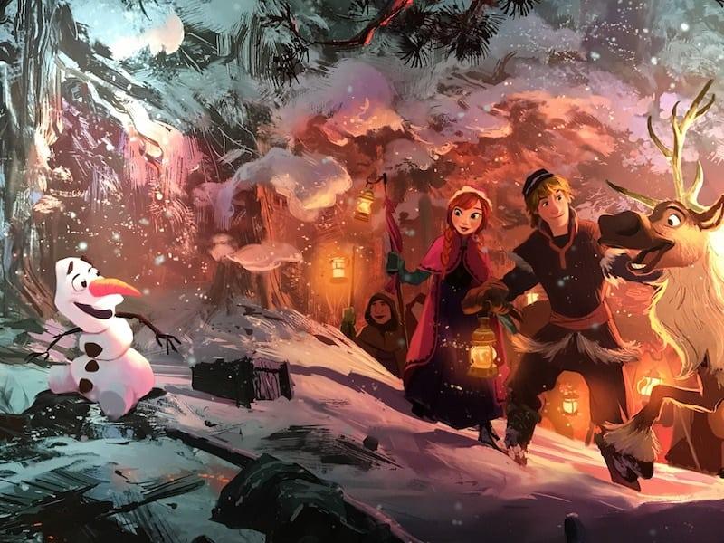 Olaf Frozen Adventure, Disney PIXAR animation, Pixar short