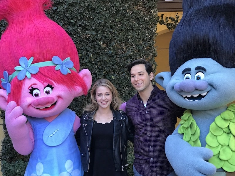 Actor Skylar Astin, Actress Amanda Leighton, Trolls The Beat Goes On, Netflix