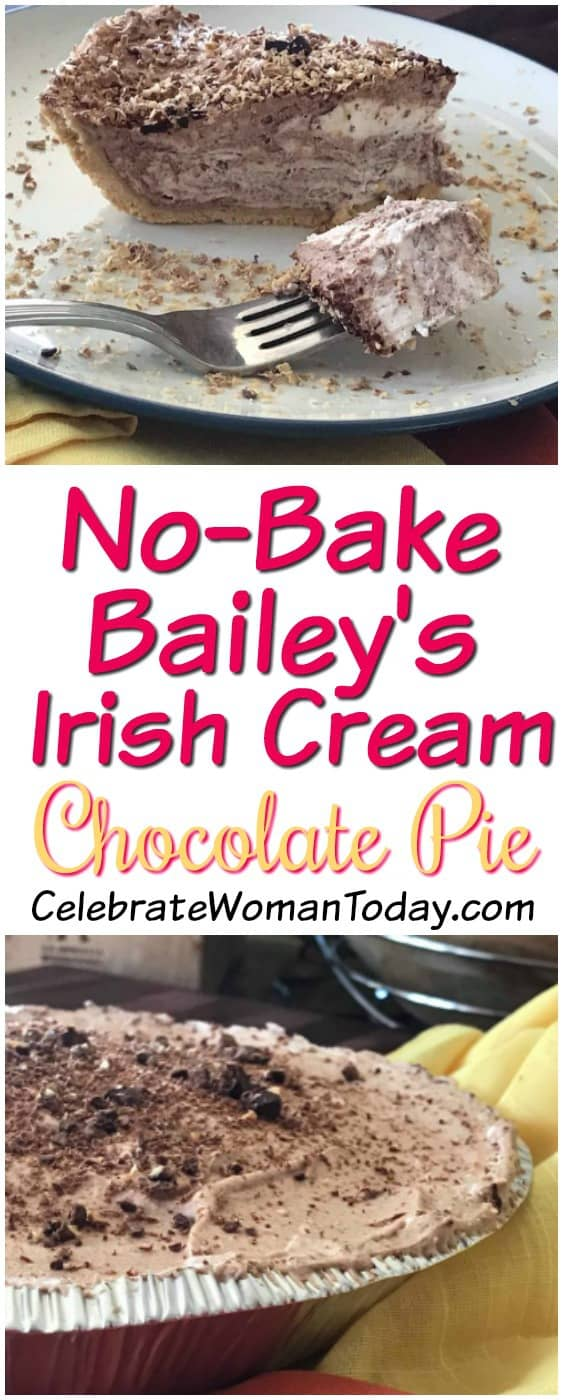 No Bake Bailey's Chocolate Pie Recipe