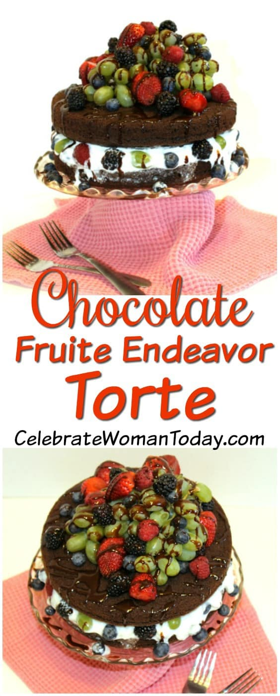LAYERED dark chocolate torte cake recipe, Chocolate Fruit Endeavor Torte