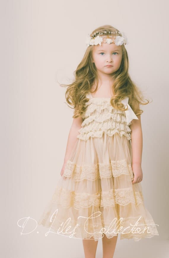 D. Lilies Vintage Dress for Girls