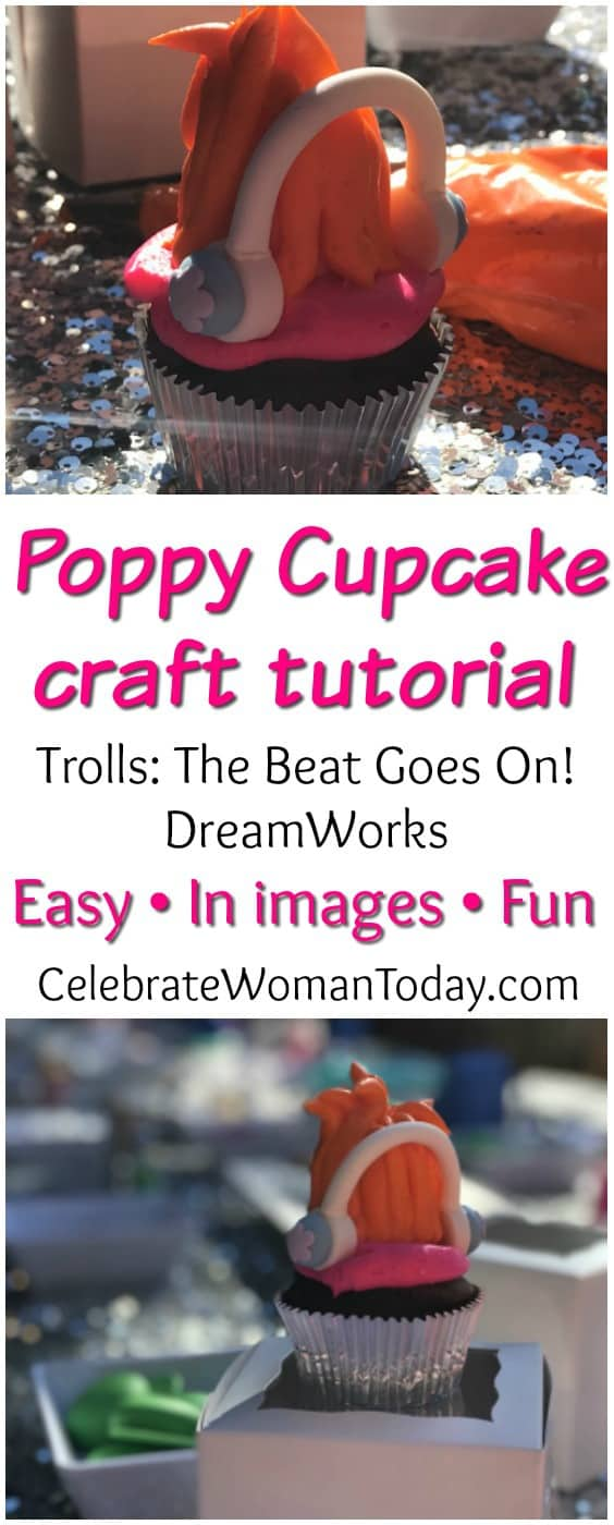 Trolls Food Craft Alert: Making Trolls cupcakes is easy with this DIY Trolls cupcake craft! No need to spend a lot of money or time. With just a few simple supplies you can make your own Trolls cupcakes POPPY Hair or BRANCH hair in just minutes