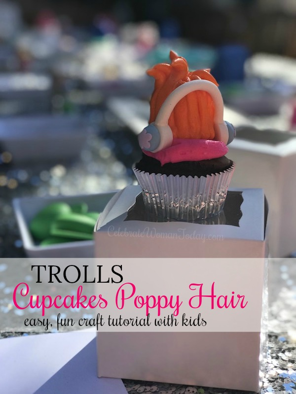 Making Trolls cupcakes is easy with this DIY Trolls cupcake craft! No need to spend a lot of money or time. With just a few simple supplies you can make your own Trolls cupcakes POPPY Hair or BRANCH hair in just minutes! Find out #HOWTO do it today!