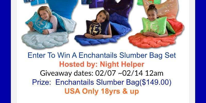 Win ENCHANTAILS Slumber Sleeping Bag Set