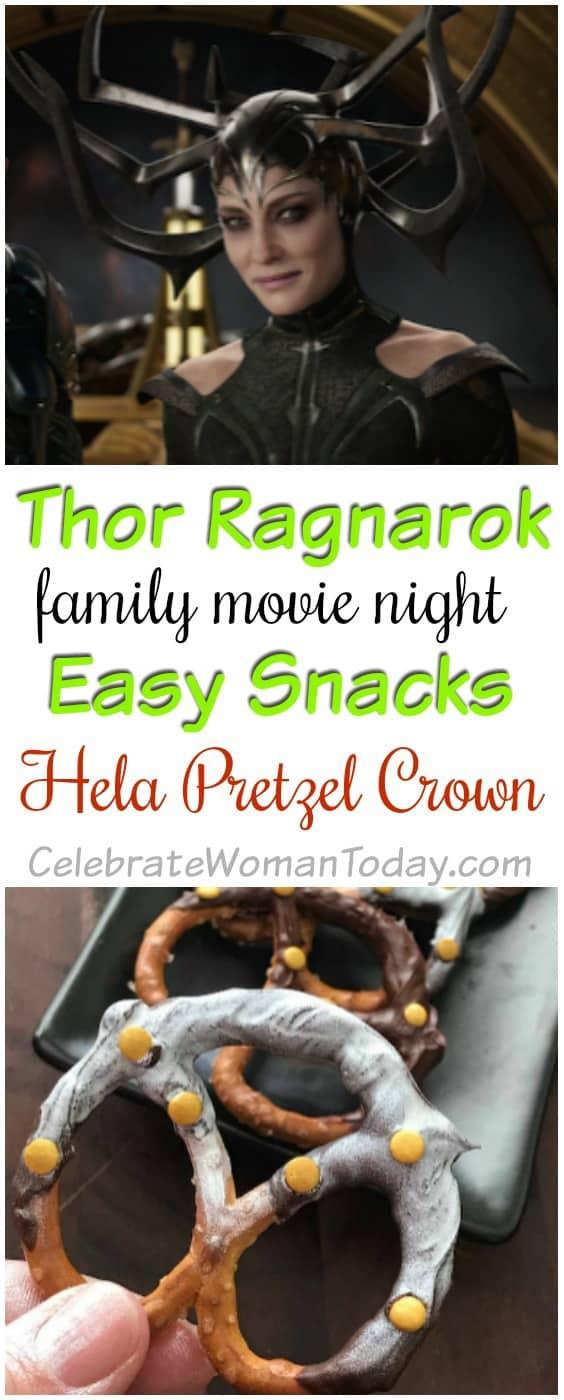 Thor Ragnarok Recipe, Hela Marshmallow Pretzel Crown