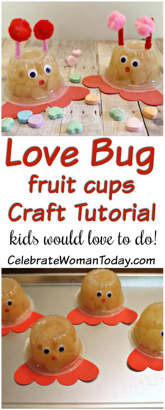Love Bug Fruit Cups Craft Tutorial