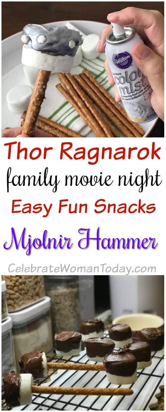 Thor Ragnarok Recipe, Marshmallow Pretzel Stick