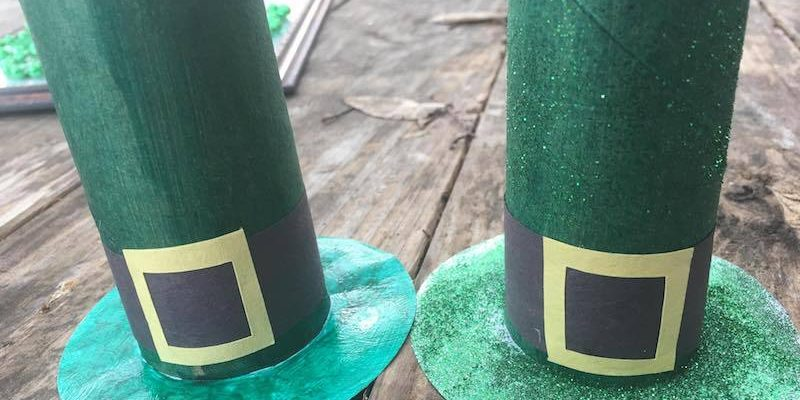 Toilet Paper Roll Leprechaun Hats Craft Tutorial