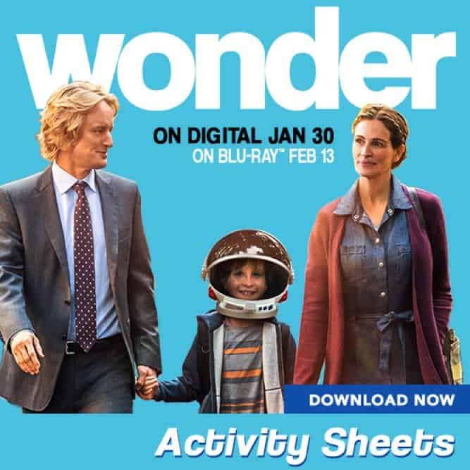 Wonder PRINTABLES, Lionsgate WONDER movie