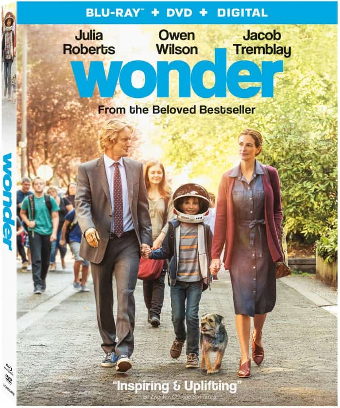 Lionsgate WONDER movie, blu-ray dvd