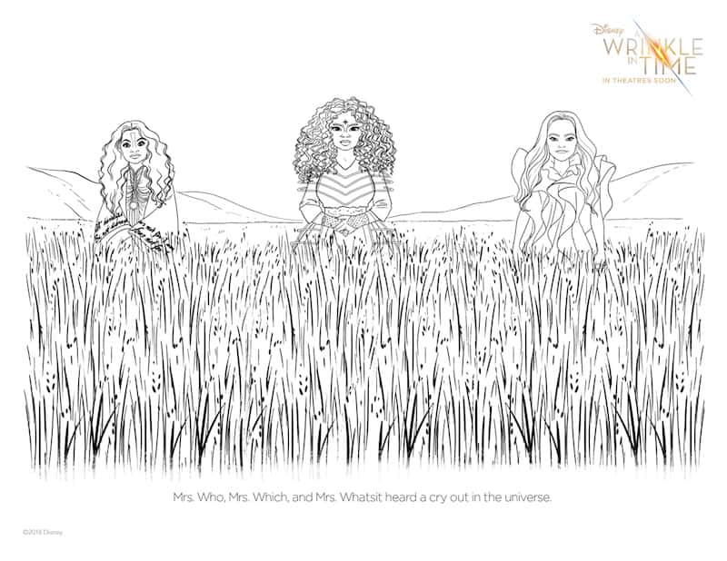 A Wrinkle In Time Activities in PDF, Printables Kids Maze Coloring Sheets