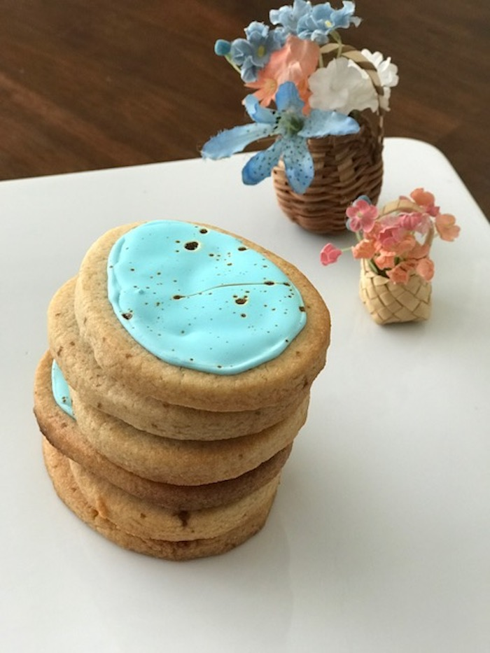 Robin Egg Blue Speckled Malted Milk Cookies Stack