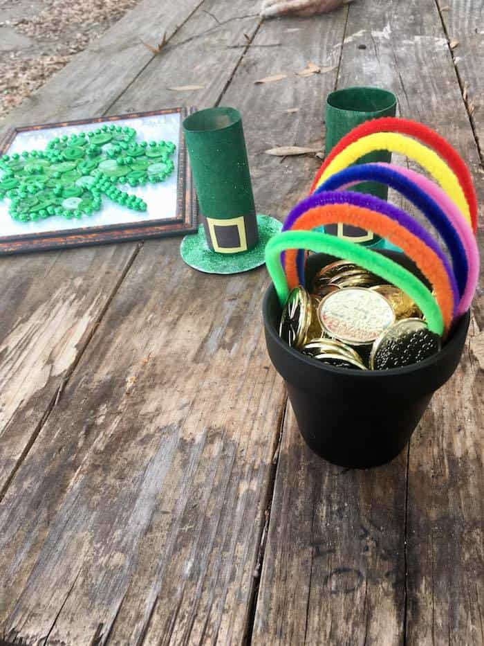 Rainbow Pot of Gold Craft for Kids St. Patrick's Day Activity