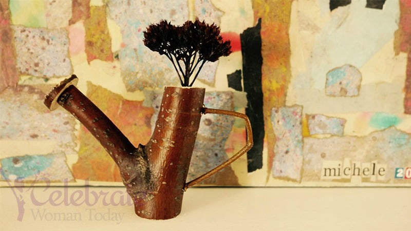 Easy and affordable is this twig craft for a watering can. Make it and gift it to your mom, teacher, child #HeartThis #Craft #Easter #MothersDay