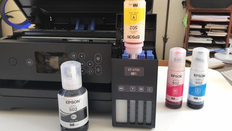 EPSON ECOTANK is good for about 6500 pages black and 5200 pages color prints – equivalent to about 30 ink cartridge sets! That is How I can save money on printer ink