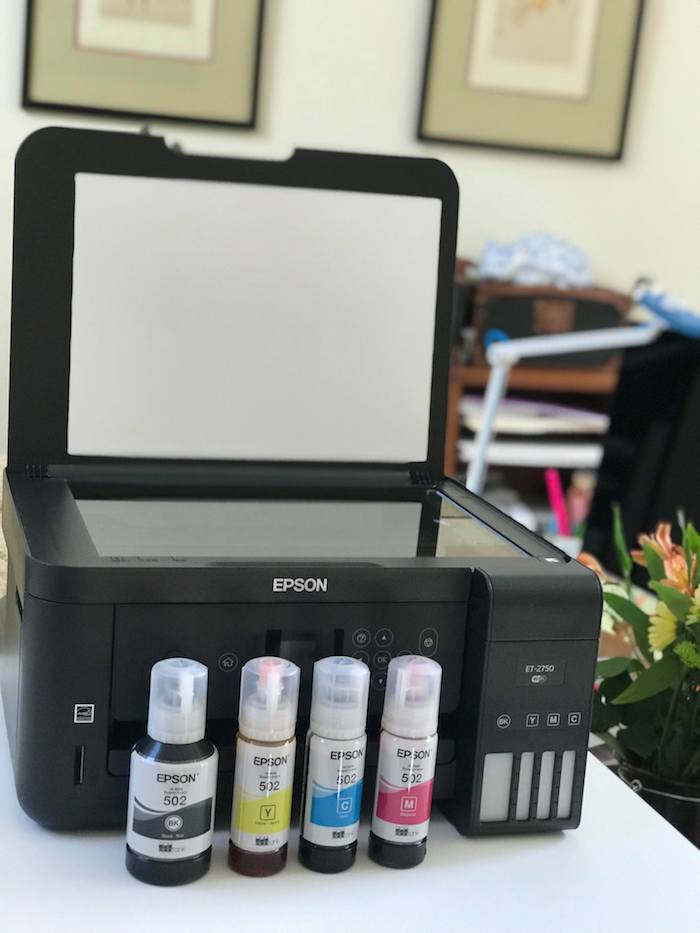 EPSON ECOTANK is good for about 6500 pages black and 5200 pages color prints – equivalent to about 30 ink cartridge sets! That is How I can save money on printer ink.