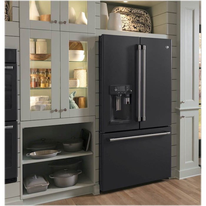 Black Slate finish is perfect for a home remodel with modern large home appliances.