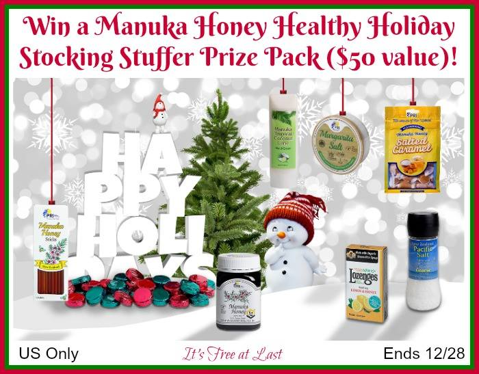 Manuka Honey from New Zealand has a healthy collection of Holiday stocking stuffer gifts. #manuka #honey #manukahoney #holidays #stockingstuffer #treats #health #women