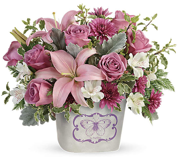 Teleflora Monarch Garden floral bouquet for Mother's Day